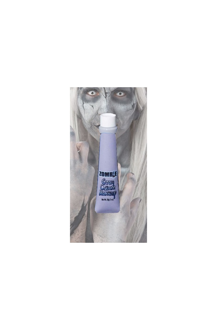 Trucco fondotinta grigio zombie, pietra, statue