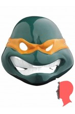Maschera Michelangelo Ninja Turtles in plastica