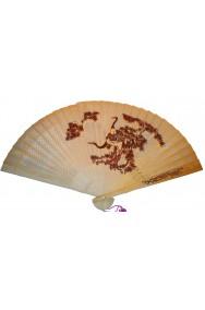 Ventaglio stile giapponese o cinese geisha richiudibile