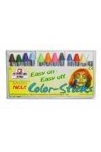 Trucco scatola 12 matite colorate palette truccabimbi in cera.