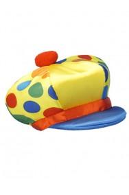 Cappello clown adulto con visiera