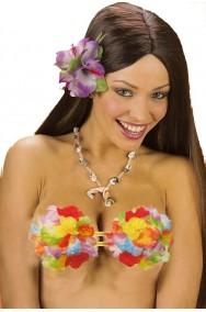 Reggiseno con fiori per festa Hawaiana