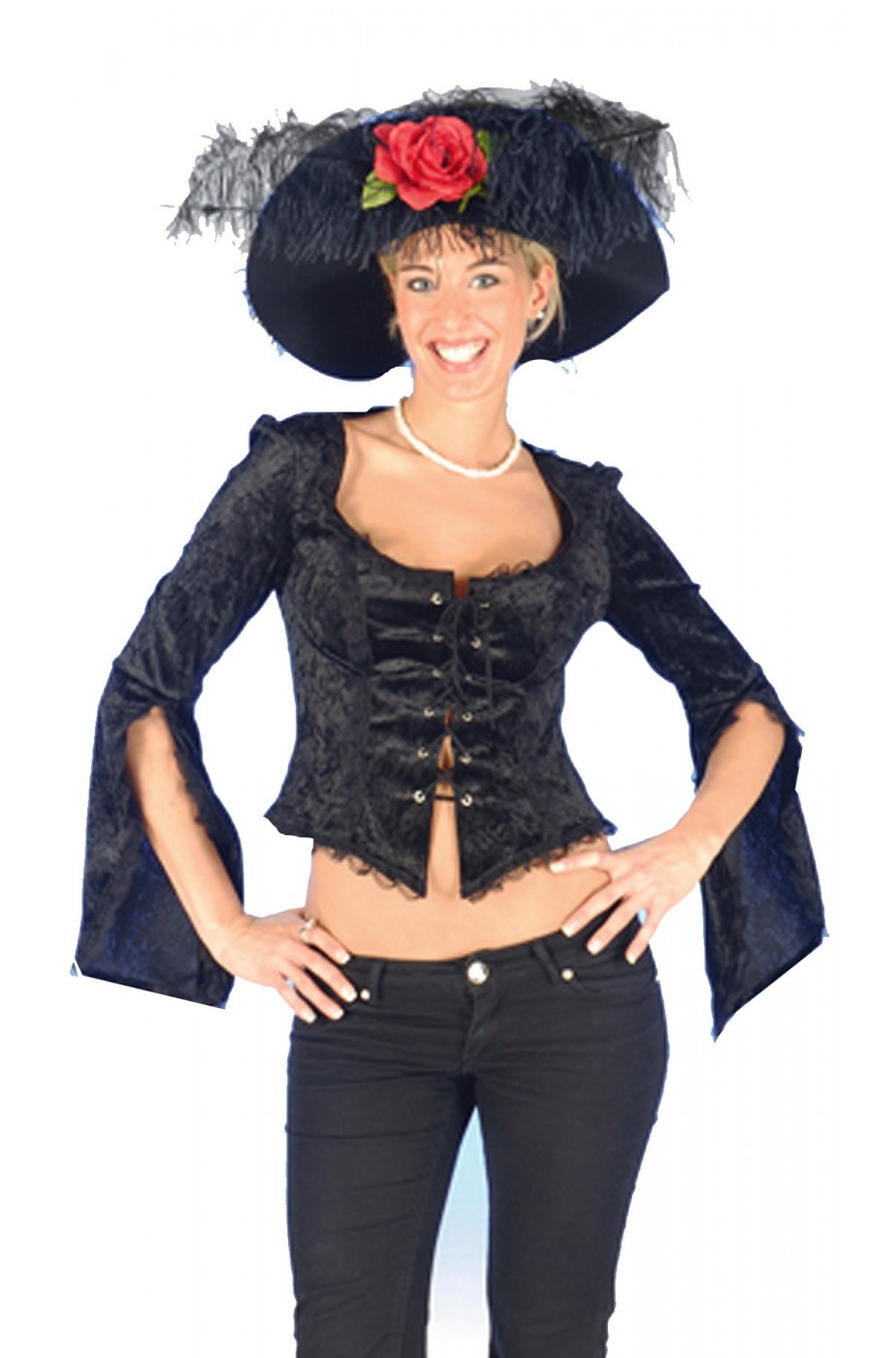 Camicia donna nera pirata/800/burlesque/strega