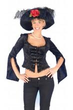 Camicia donna nera pirata 800 burlesque strega