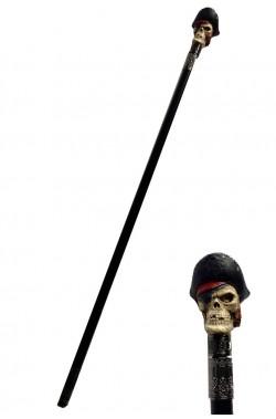 Bastone con testa di pirata halloween cm 50