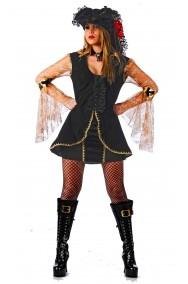 Costume Pirata donna Corsara dei Caraibi con veli e cappello. Bellissimo.