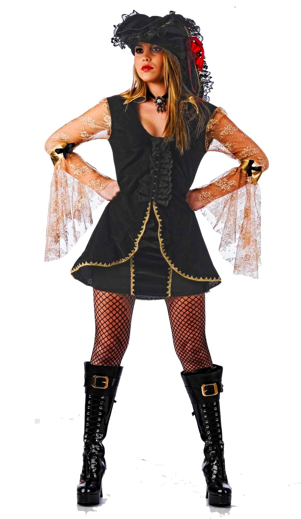 Costume Pirata donna Corsara dei Caraibi con veli e cappello. Bellissimo. 12cfb0a87d4