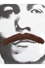Trucco: Baffi finti a spazzola lunghi Anni 70 marroni Bart