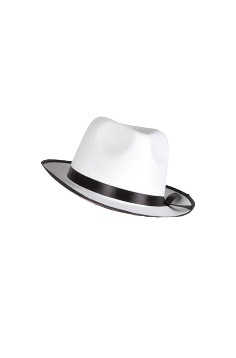 Cappello Gangster Al Capone Bianco fascia nera - CarnivalHalloween.com 023f4aef3a11