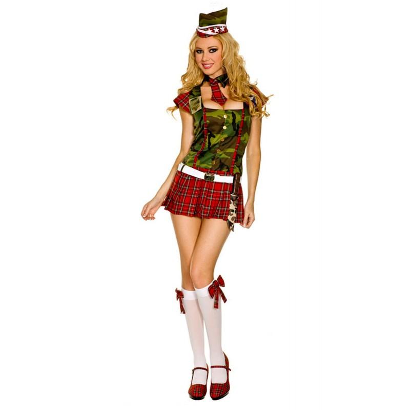 40e53a7bdc5c costume donna Sexy Soldatessa militare super elasticizzato e completo