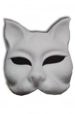 Maschera Veneziana in cartapesta Gatto