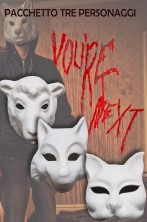 Gruppo tre maschere personaggi killer You're Next