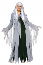 Costume donna fantasma o zombie CON PARRUCCA attenzione la parrucca è spelata sul retro appositamente