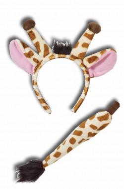 Set giraffa orecchie e coda