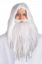 Barba, parrucca, baffi Gandalf il bianco dal film il signore degli Anelli
