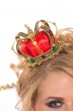 Corona lusso con clip rossa e oro