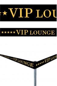 Nastro per feste e party pvc scritta Vip Lounge 6 m