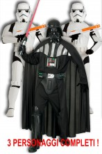 Gruppo Star Wars Darth Vader e Scorta due Stormtrooper