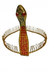Corona egiziana con serpente cobra in metallo effetto antico
