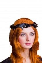 Corona nera principessa medievale Lady Marian