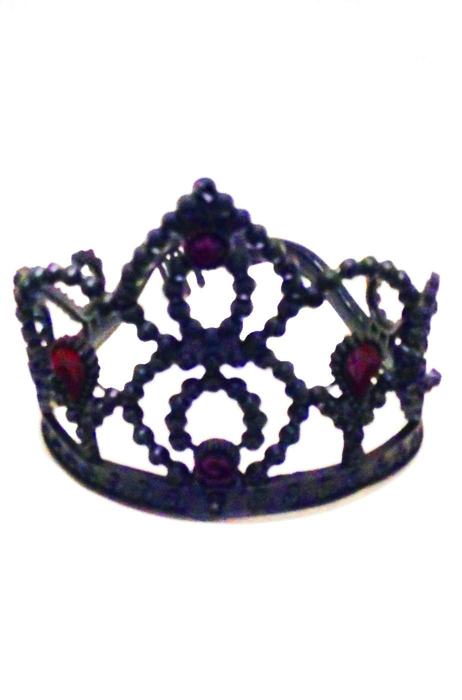 Corona nera in plastica