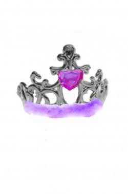 Coroncina principessa a tiara con marabou e cuore