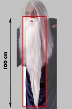 Barba Bianca Mago Gandalf 100cm con elastico