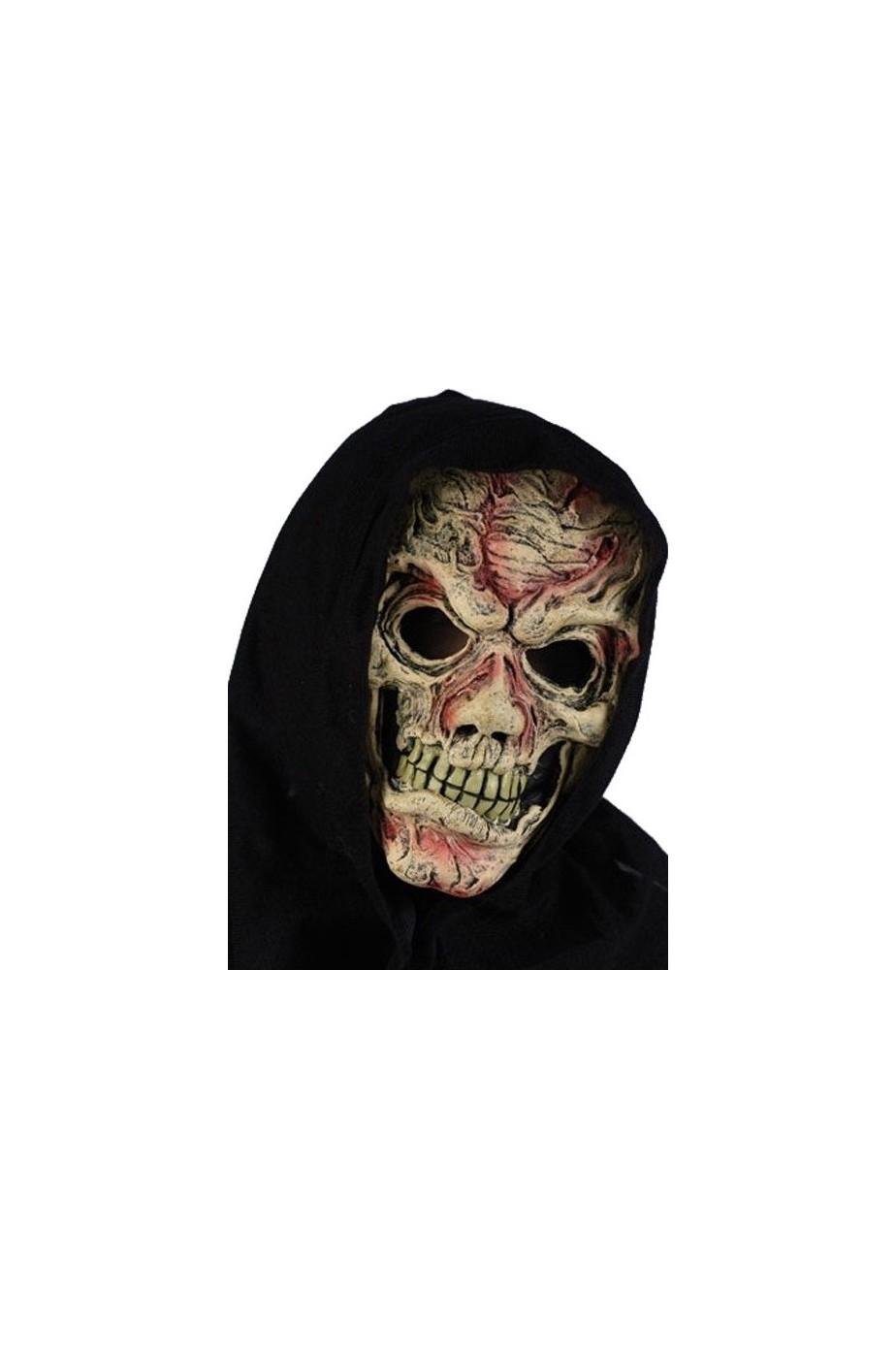 Maschera teschio sanguinante con cappuccio