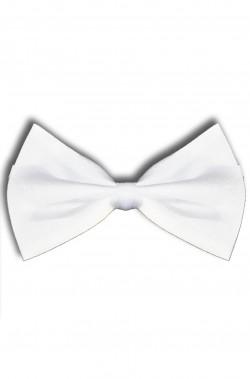 Cravattino Papillon/Farfallino bianco classico con attacco regolabile