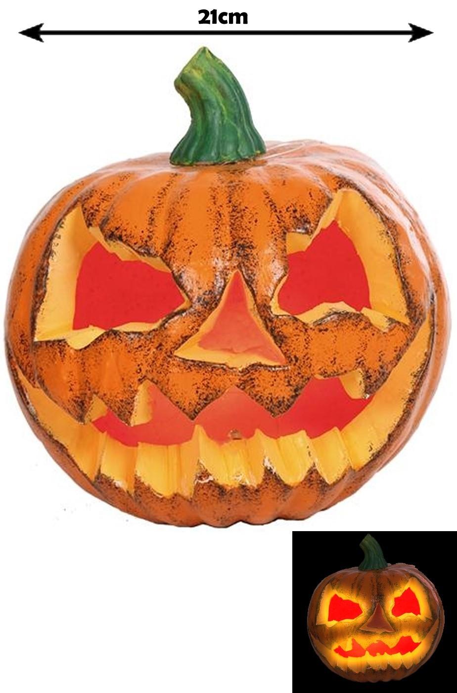 Decorazione Halloween Zucca con luce interna a LED