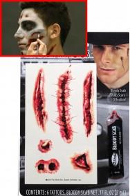 FX Tatuaggi con ferite horror sei pezzi e sangue finto