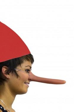 Naso finto Pinocchio Cyrano con elastico in pvc lunghezza cm 17