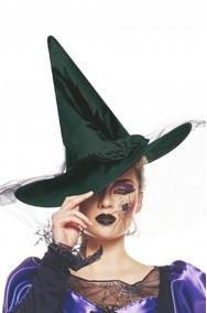 Cappello strega lusso con veletta nero
