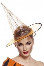 Cappello strega trasparente arancione