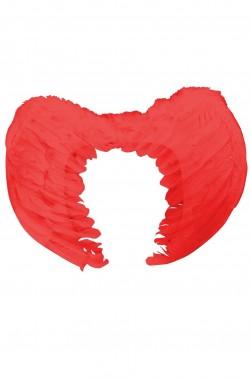 Ali rosse di piume 50x40