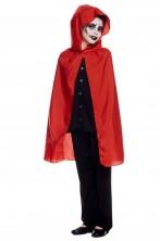 Mantello rosso da bambino 70 cm anche per cappuccetto rosso