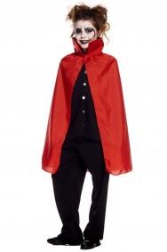 Mantello da bambino con collare rosso 70 cm
