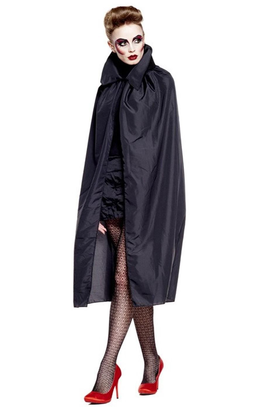 Mantello adulto NERO per vampiri 120 cm