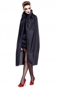 Mantello adulto con collare colore nero 120 cm