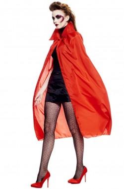 Mantello adulto rosso  per vampiri 120 cm