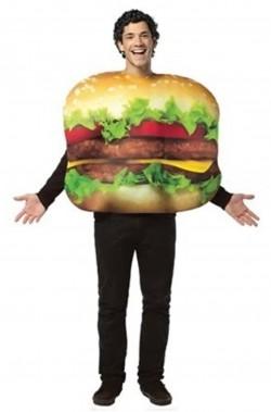Costume unisex hamburger o cheeseburger