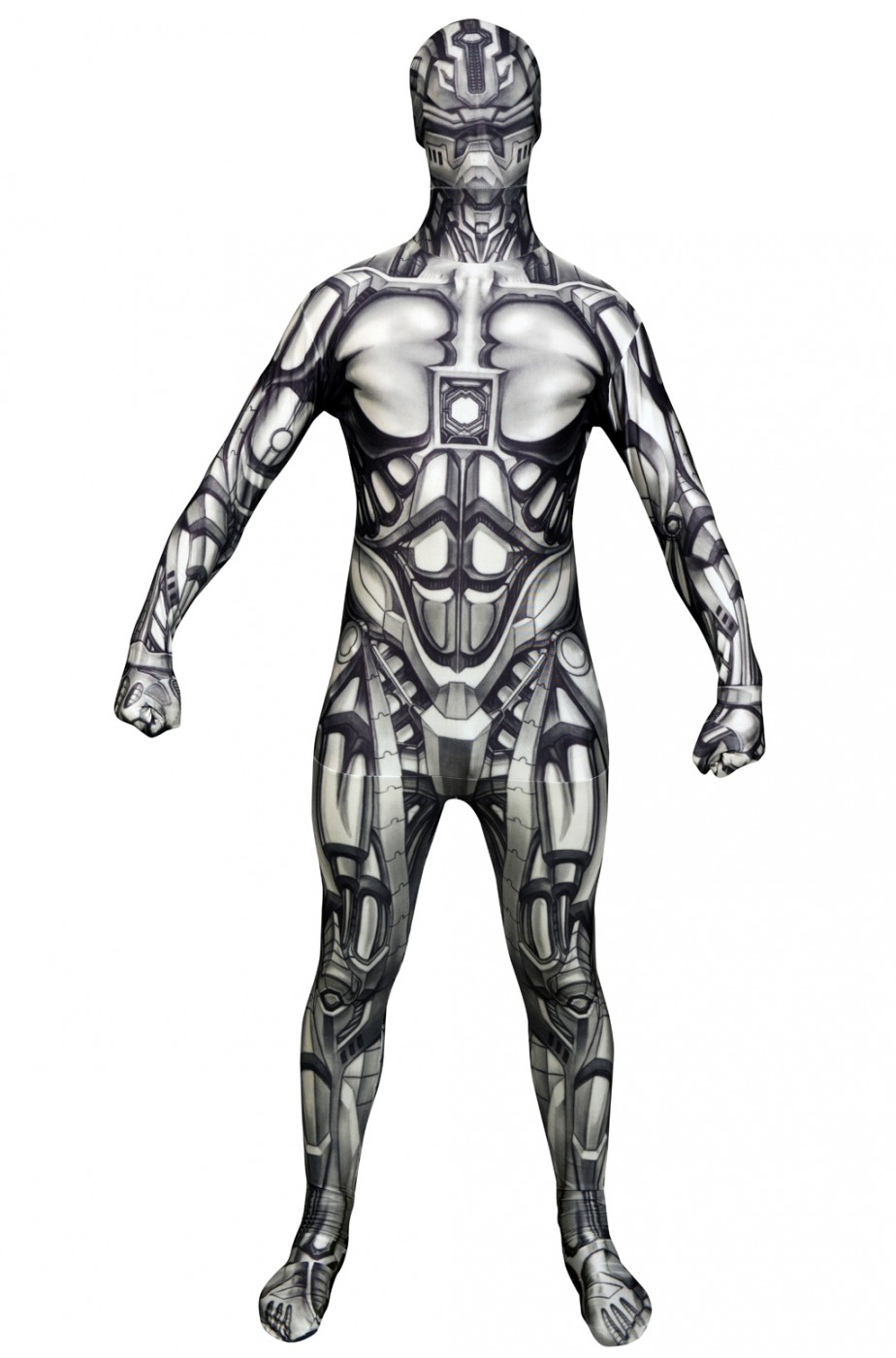 Costume Morphsuit Androide Robot 2nd skin seconda pelle M adulto