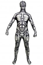 Costume Morphsuit Androide Robot 2nd skin seconda pelle M