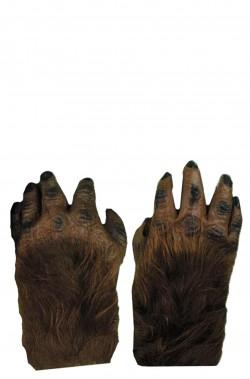 Guanti gorilla scimmia scimpanzè marroni
