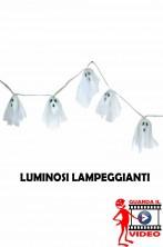 Allestimento Halloween Decorazione striscione Fantasmi luminosi lampeggianti GUARDA IL VIDEO