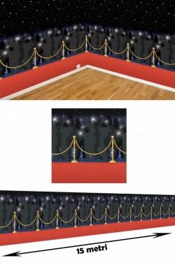Sfondo per scenografia Hollywood Party 15 metri Red Carpet