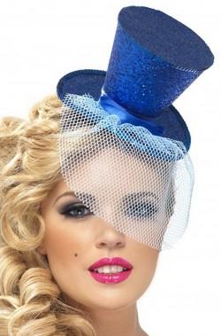Adulto/'s glitterate Mini Cappello-Glitter Band bulesque può Saloon Accessorio