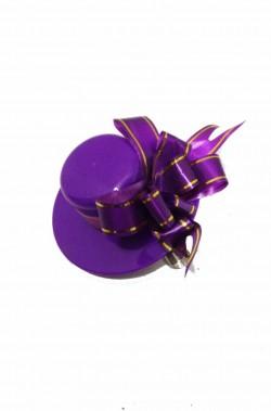 Cappellino Burlesque con fiocco in plastica fermaglio a clip