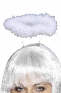 Aureola Bianca da angelo supporto doppio