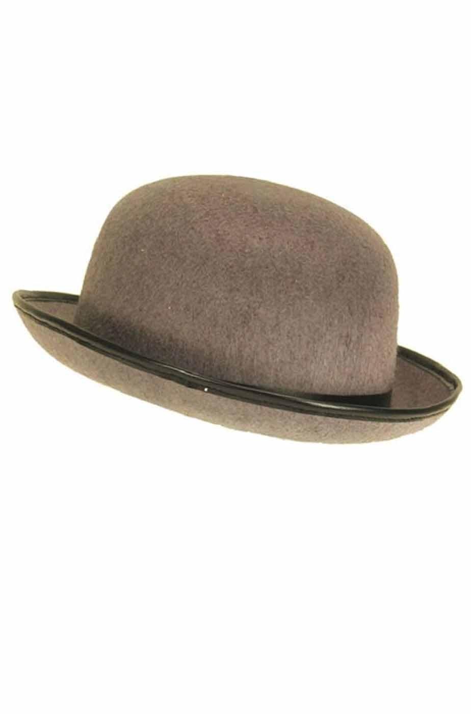 Cappello a bombetta grigio